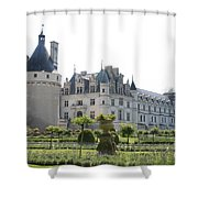 Chateau  Chenonceau And Garden Shower Curtain