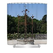 Chateau Chenonceau Well  Shower Curtain