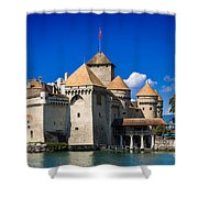 Chateau Chillon Shower Curtain