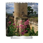 Chateau Chinon In The Loire Valley Shower Curtain