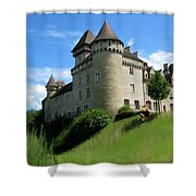 Chateau De Cleron Dans Le Doubs France Shower Curtain