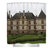 Chateau De Cormatin  And Garden - Burgundy Shower Curtain