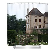 Chateau De Cormatin - Burgundy Shower Curtain