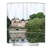 Chateau De Sercy - Burgundy Shower Curtain