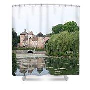 Chateau De Sercy - Burgundy Shower Curtain