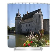 Chateau De Sully-sur-loire And Moat Shower Curtain