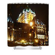 Chateau Frontenac At Night Shower Curtain