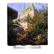 Chateau Frontenac In Quebec Shower Curtain