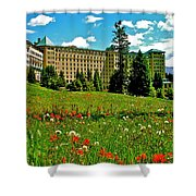 Chateau Lake Louise In Banff Np-alberta Shower Curtain