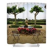 Chateau Malherbe Fountain Shower Curtain by Lainie Wrightson