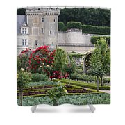 Chateau Villandry And The Cabbage Garden  Shower Curtain