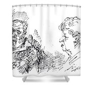 Chating  Shower Curtain