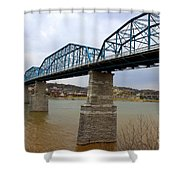 Chattanooga Longest Walking Bridge Shower Curtain by Kathy  White