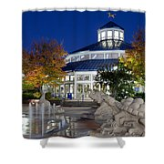 Chattanooga Park At Night Shower Curtain