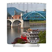 Chattanooga Riverfront Shower Curtain