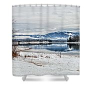 Chatuge Dam Winter Vista Shower Curtain