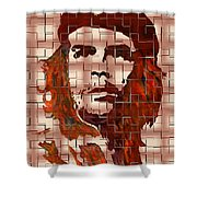 Che Guevara Digital From Watercolor Painting Shower Curtain