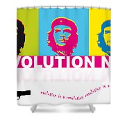 Che Guevara - Revolution Now Shower Curtain