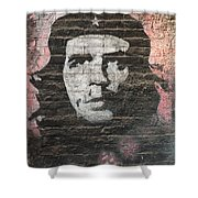 Che Guevara Wall Art In China Shower Curtain