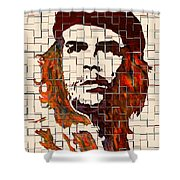 Che Guevara Watercolor Painting Shower Curtain
