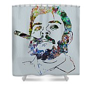 Che Watercolor Shower Curtain