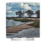 Cheboygan Crib Lighthouse #18 Shower Curtain