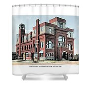 Cheboygan Michigan - Opera House And City Hall - Huron Street - 1905 Shower Curtain