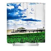 Chechessee River Style Shower Curtain