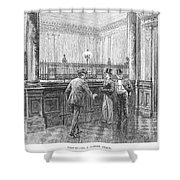 Check Forger, 1890 Shower Curtain