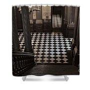 Checkerboard Shower Curtain