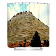 Checkerboard Mesa  Shower Curtain by J Allen