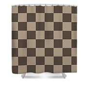 Checkerboard Pattern Fractal Flame Shower Curtain by Keith Webber Jr