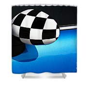 Checkered Finish Shower Curtain