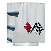 Checkers Shower Curtain by Bill Gallagher