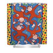 Cheeky Monkeys Wc Shower Curtain