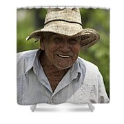 Cheerful Character Shower Curtain