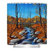 Cheerful Fall Shower Curtain by Anastasiya Malakhova