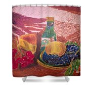 Chees And Bluberries Shower Curtain