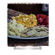 Cheese And Strawberries Shower Curtain