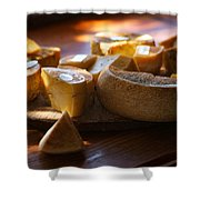 Cheese Selection Shower Curtain