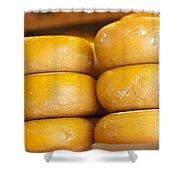 Cheese Wheels Shower Curtain