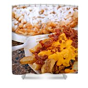 Cheesy Bacon Fries And Funnel Cake Shower Curtain