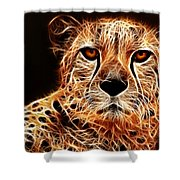 Cheetah Artwork Shower Curtain