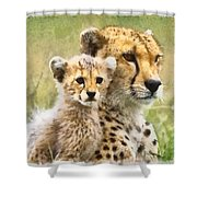Cheetah Two Shower Curtain