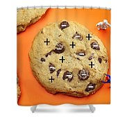 Chef Depicting Thomson Atomic Model By Cookies Food Physics Shower Curtain