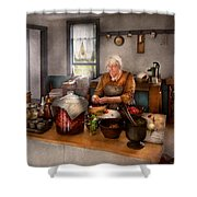 Chef - Kitchen - Cleaning Cherries  Shower Curtain