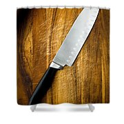 Chef's Knife Shower Curtain