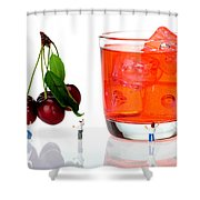 Chefs Making Cherry Juice Little People On Food Shower Curtain