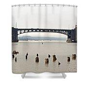Chehalis River Aberdeen Wa Shower Curtain