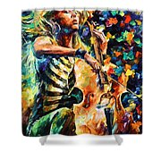 Chelo Player Shower Curtain